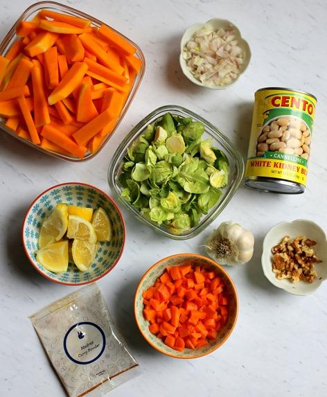 Butternut Squash Stew Ingredients