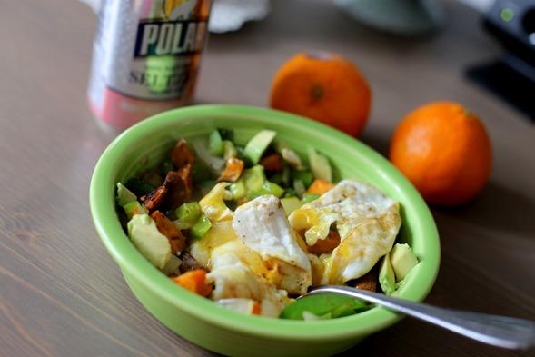 Egg Avocado Sweet Potato Bowl