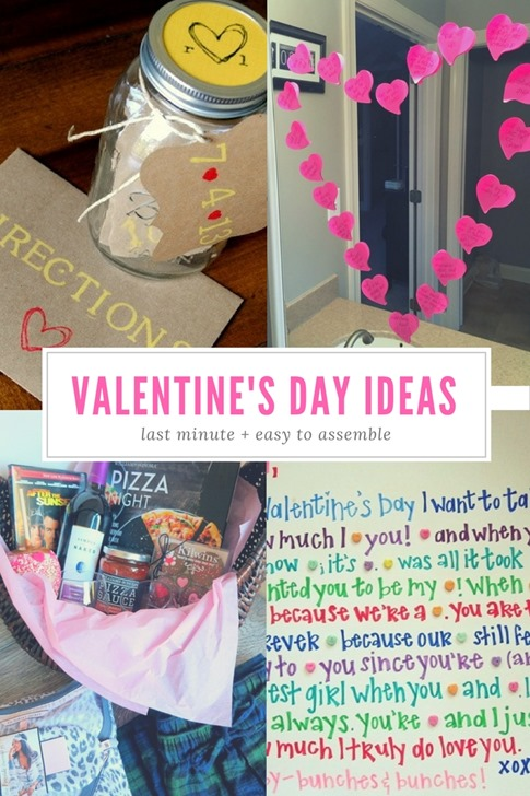 Easy Last Minute Valentine's Day Ideas