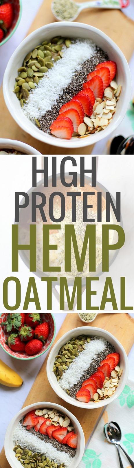 High Protein Hemp Oatmeal