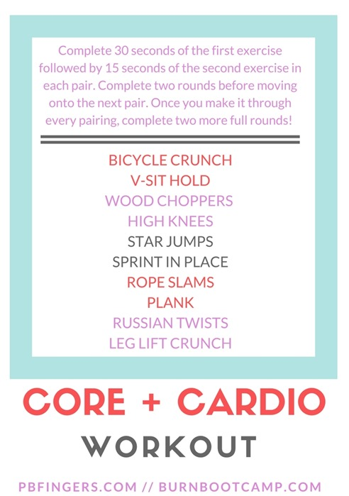 Core   Cardio Workout