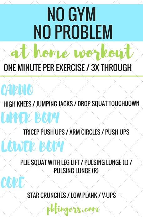 No Gym No Problem At Home Workout