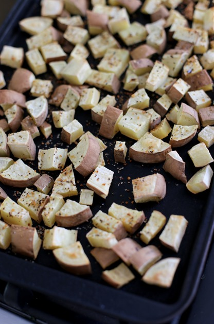 Roasted White Sweet Potatoes