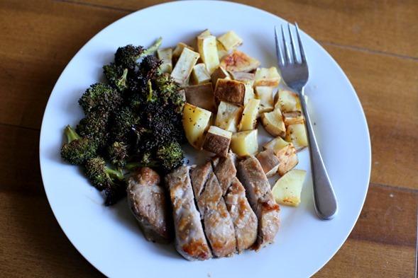 pork potatoes broccoli