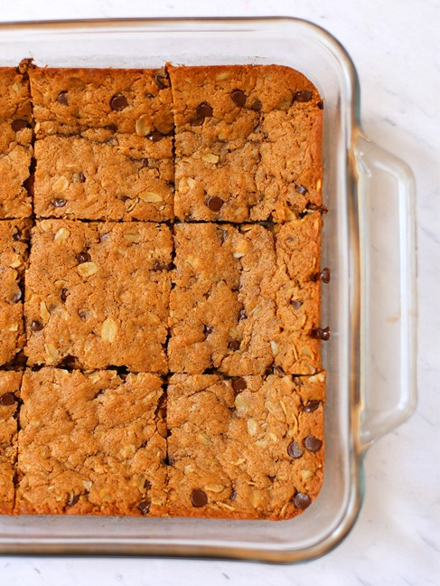 Chocolate Chip Almond Butter Bars