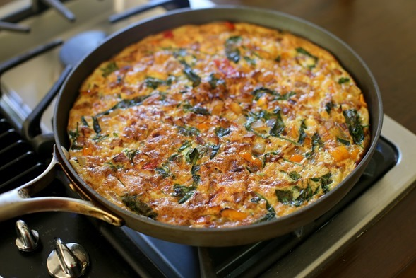 Frittata Easy Healthy Spinach Sausage
