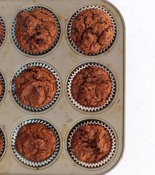 PaleOMG Chocoalte Zucchini Muffins