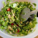 chopped salad bowl and chopper