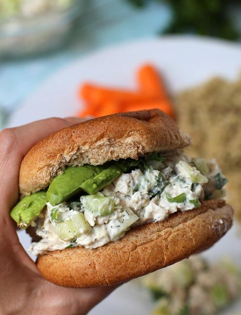 Easy Rotisserie Chicken Salad with Greek Yogurt