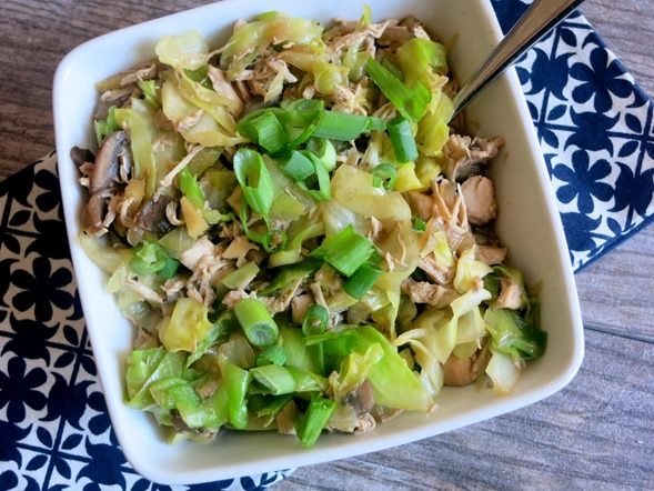 Chicken Cabbage Bowl with Ginger Sesame Broth