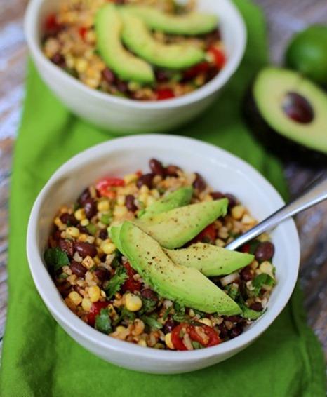 black bean brown rice salad