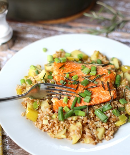 Blue Apron Tangelo and Honey Salmon