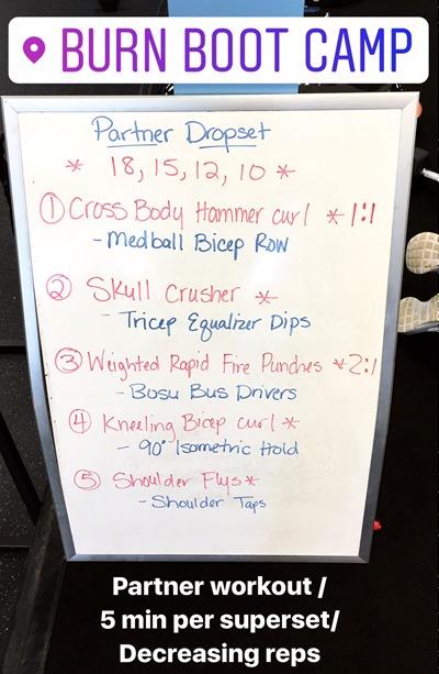 Burn Boot Camp Bicep Tricep Shoulder Workout