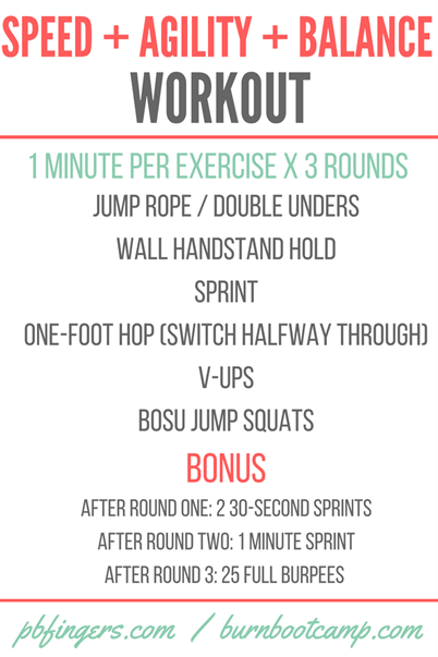 Speed and Agility Burn Boot Camp Workout