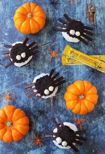 Easy Halloween Spider Cupcakes