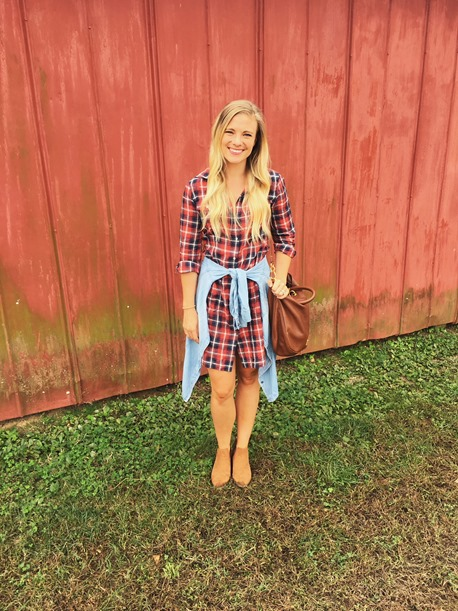 theory plaid dress