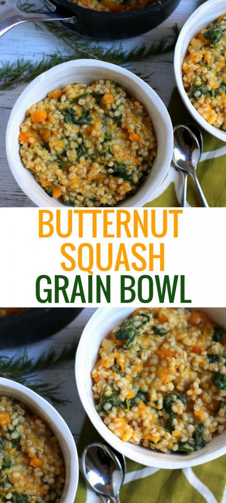 Butternut Squash Grain Bowl (Vegetarian Recipe)