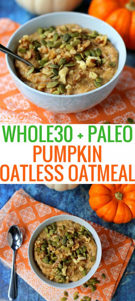 Pumpkin Paleo Oatmeal