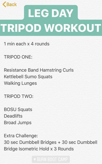 Tripod Leg Workout