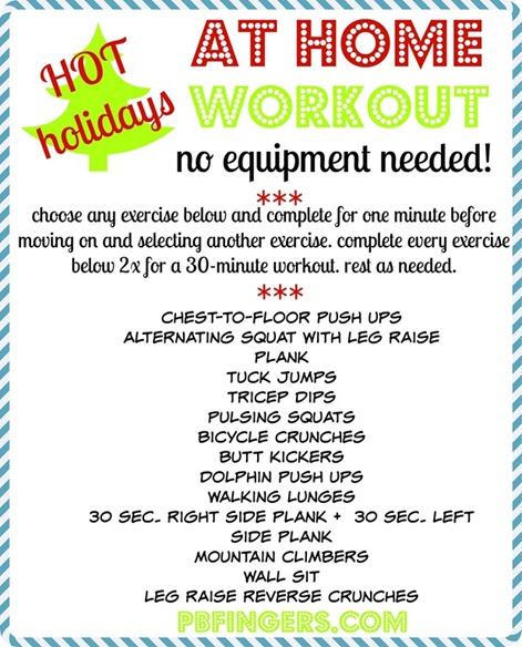 Holiday At Home Workout