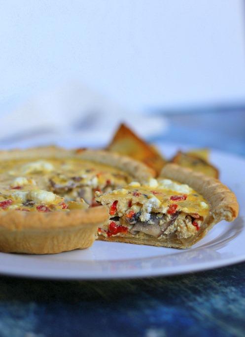 Mushroom Cheese Quiche