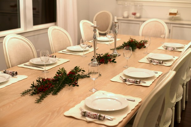 holiday table spread