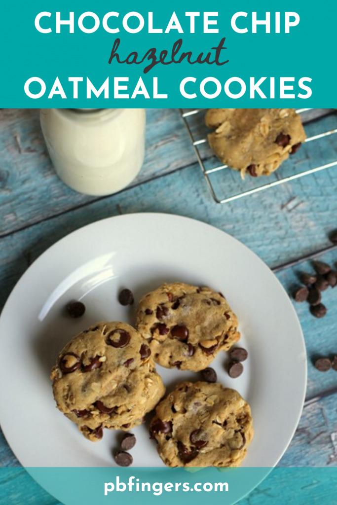Chocolate Chip Hazelnut Oatmeal Cookies