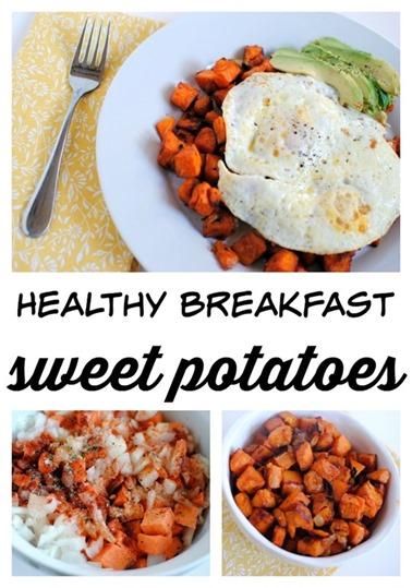 Healthy Breakfast Sweet Potatoes