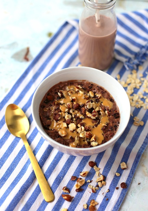 High Protein Chocolate Oatmeal
