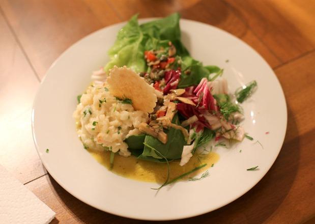 Risotto and Green Salad