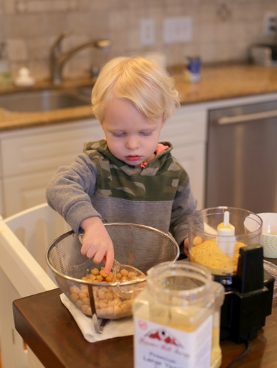 Toddler Helping to Cook