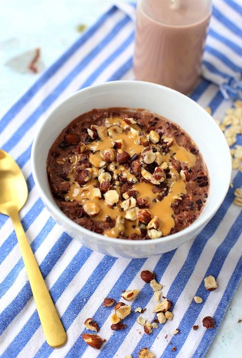 Triple Chocolate Protein Oatmeal