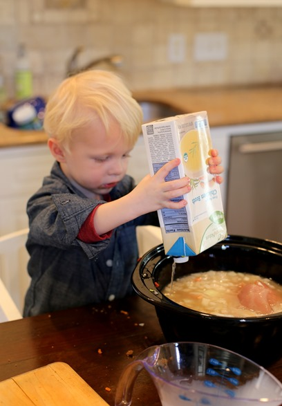 toddler cooking help