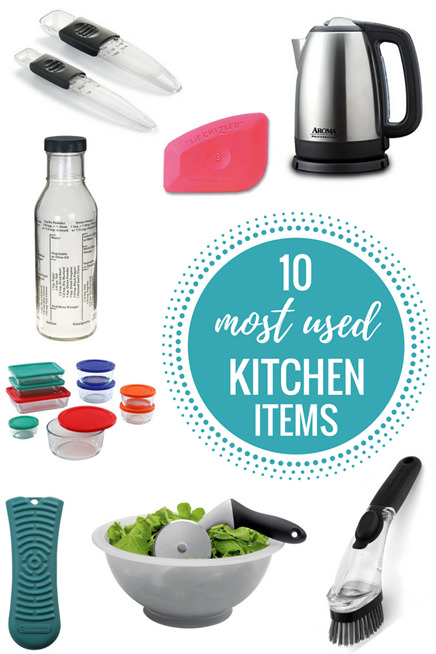 10 Most Used Kitchen Items