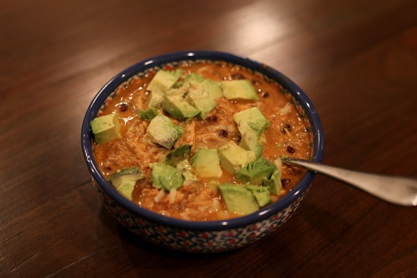 Queso Chicken Chili Crockpot