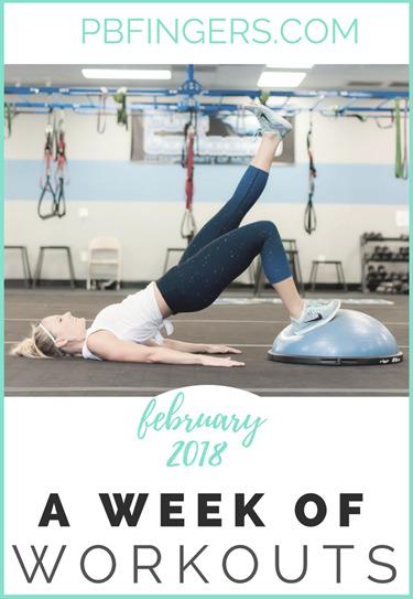 Week of Workouts 22 weeks pregnant