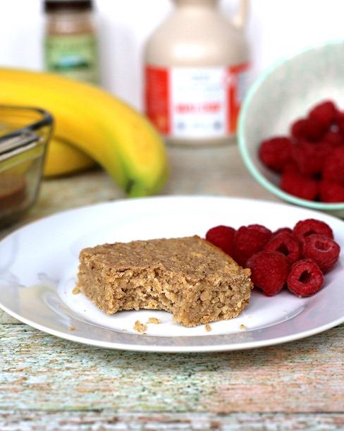 Healthy Blender Breakfast Bars - Kid Friendly Recipe