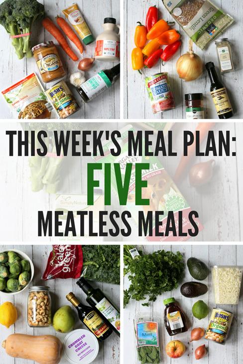 Weeknight Meatless Meal Plan - Easy Vegetarian Meal Plan for the Week