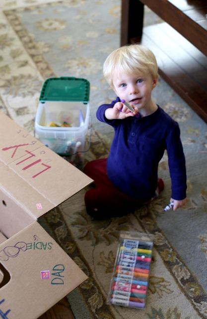 Cardboard Box Fun with Chase