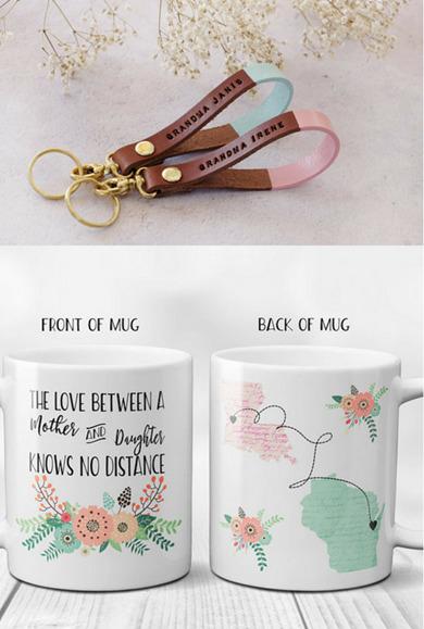 personalized key chain or mug