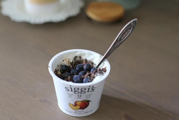 siggi's peach yogurt with toppings