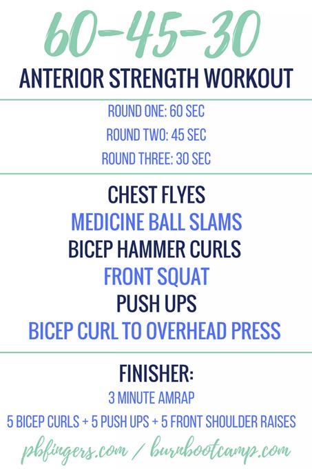 Anterior Strength Workout