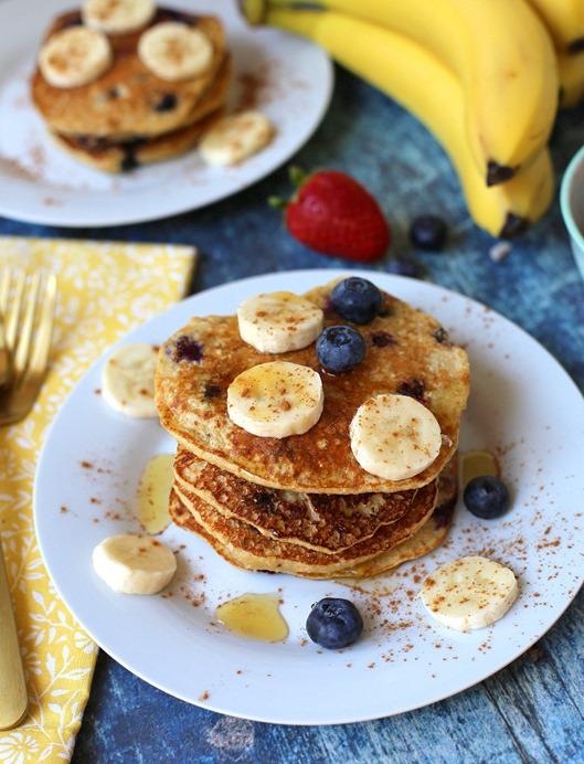 Blueberry Banana Protein Pancake
