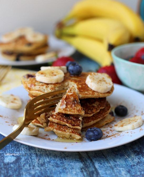 Blueberry Banana Protein Pancakes Recipe