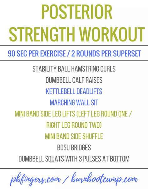 Posterior Strength Workout