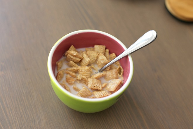 Rice Chex and Almond Milk