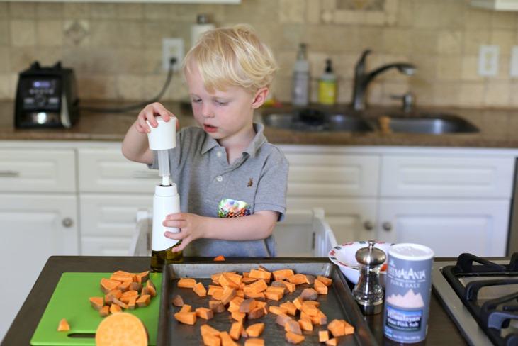 Sweet Potato Food Prep