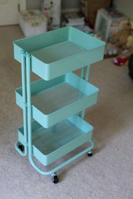 Teal Craft Cart for Nursery
