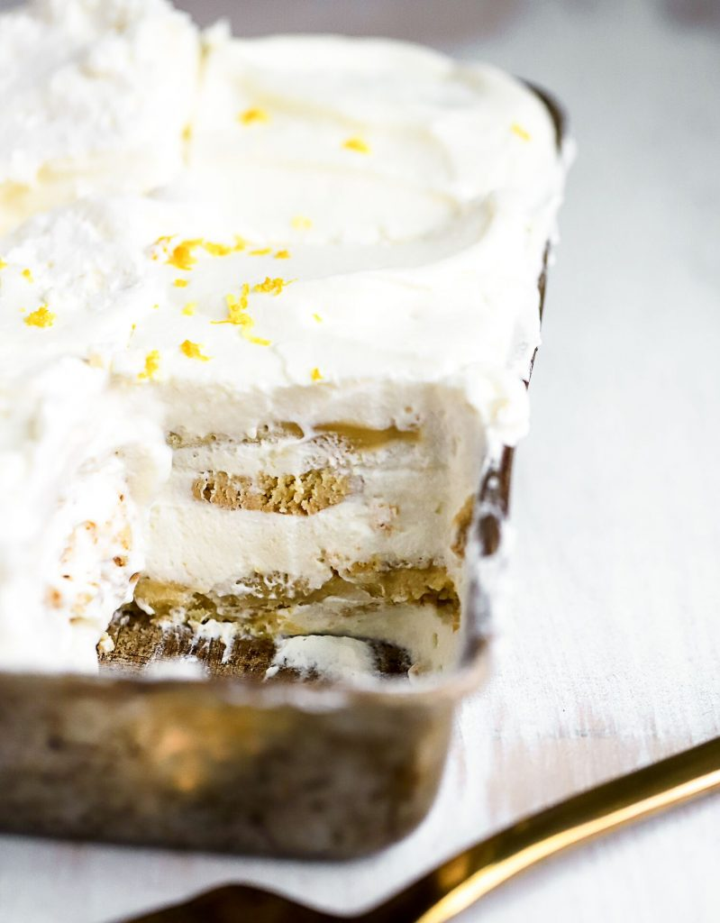 Lemon Sugar Cookie Icebox Cake
