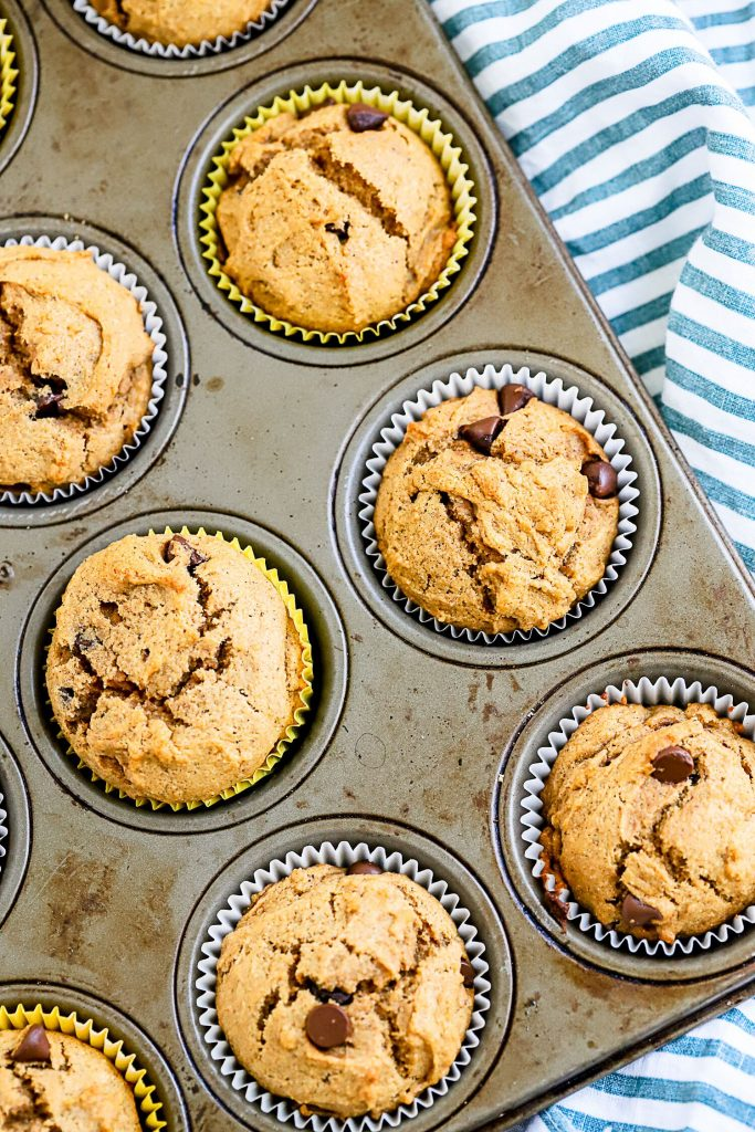 Chocolate Chip Sweet Potato Muffins